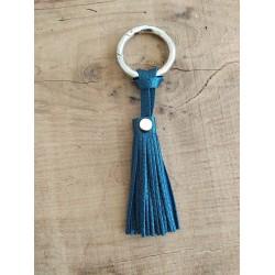 Porte-clés bleu métal