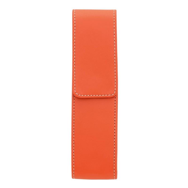 Etui pour 2 stylo Élégance Orange