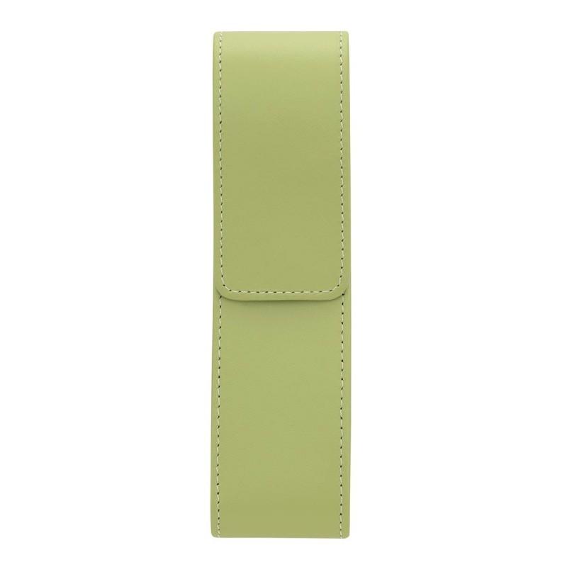 Etui pour 2 stylos élégance vert anis