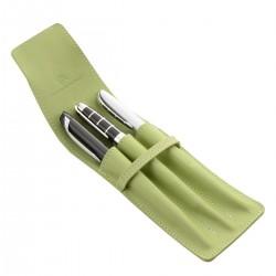 Etui pour 3 stylo MC Vert Anis
