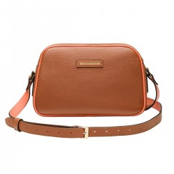 Sac Cécile Bicolore Camel et Orange